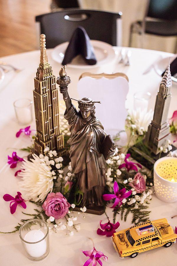 Travel Themed Wedding Centerpieces  haley & amit's travel themed wedding