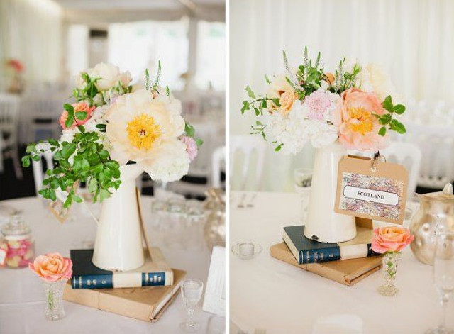 Travel Themed Wedding Centerpieces  Modern And Vintage Wedding Decorations With Jugs 21