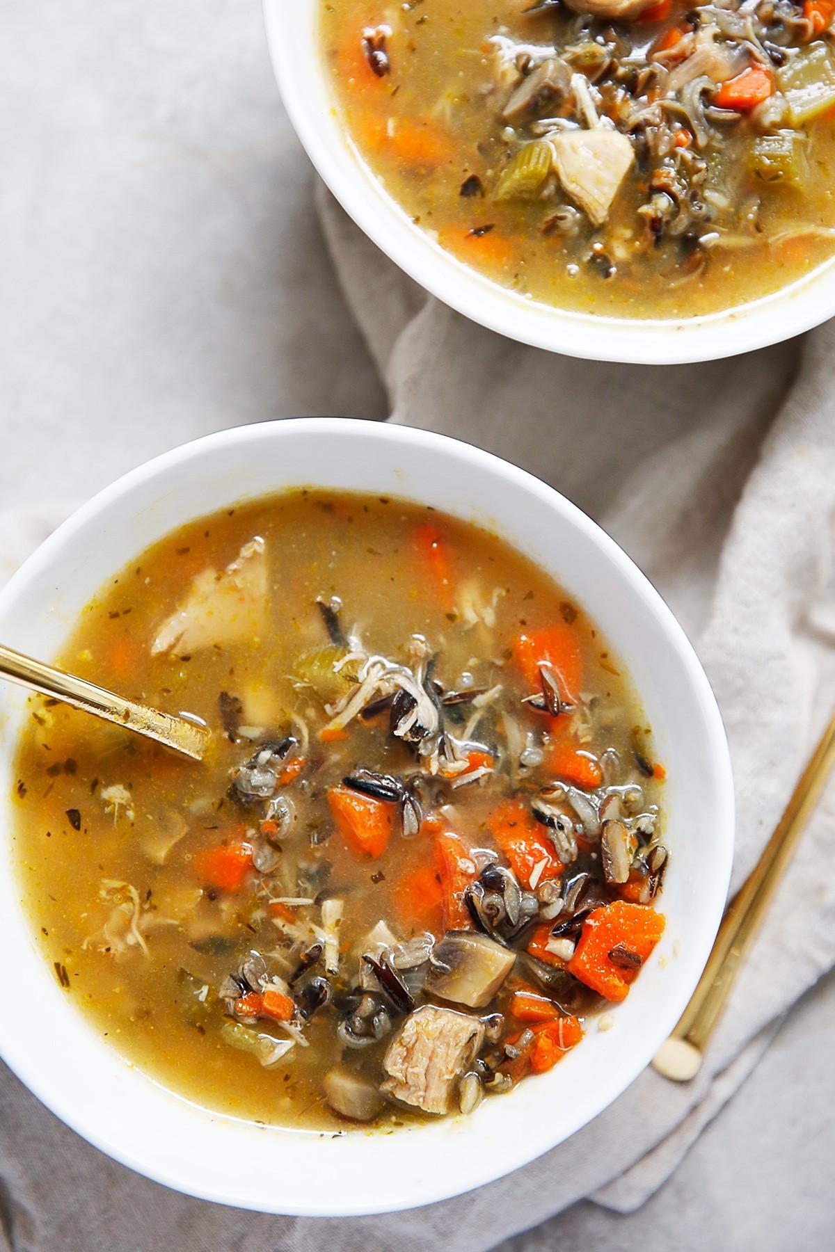 Turkey Wild Rice Soup Recipe  Turkey Wild Rice Soup from Leftover Turkey Lexi s Clean