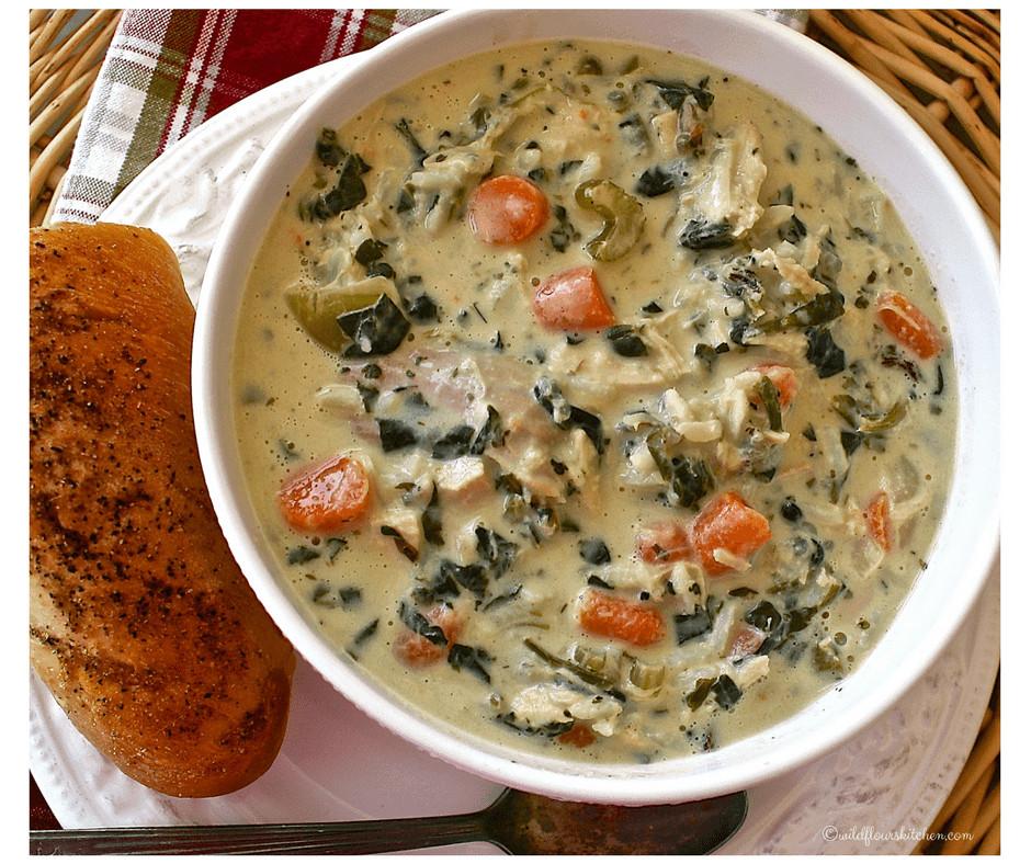 Turkey Wild Rice Soup Recipe  Cream of Turkey Wild Rice & Spinach Soup or Chicken