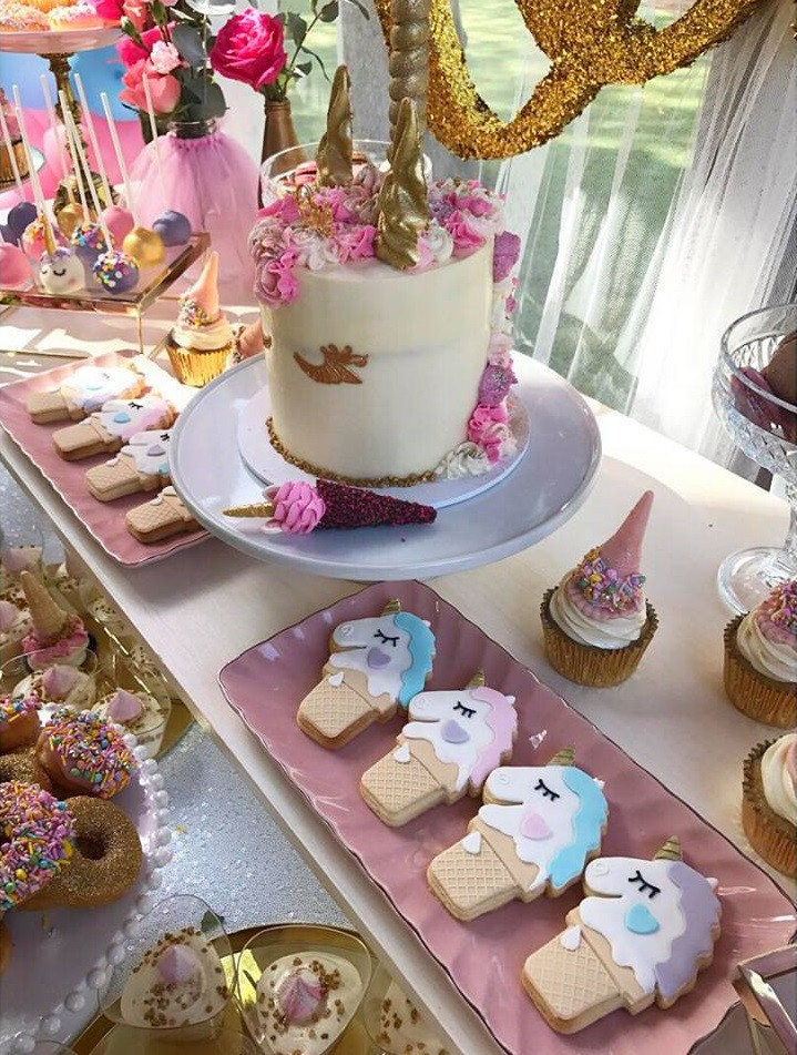 Unicorn Food Ideas For Party  Magical Unicorn First Birthday Party Birthday Party
