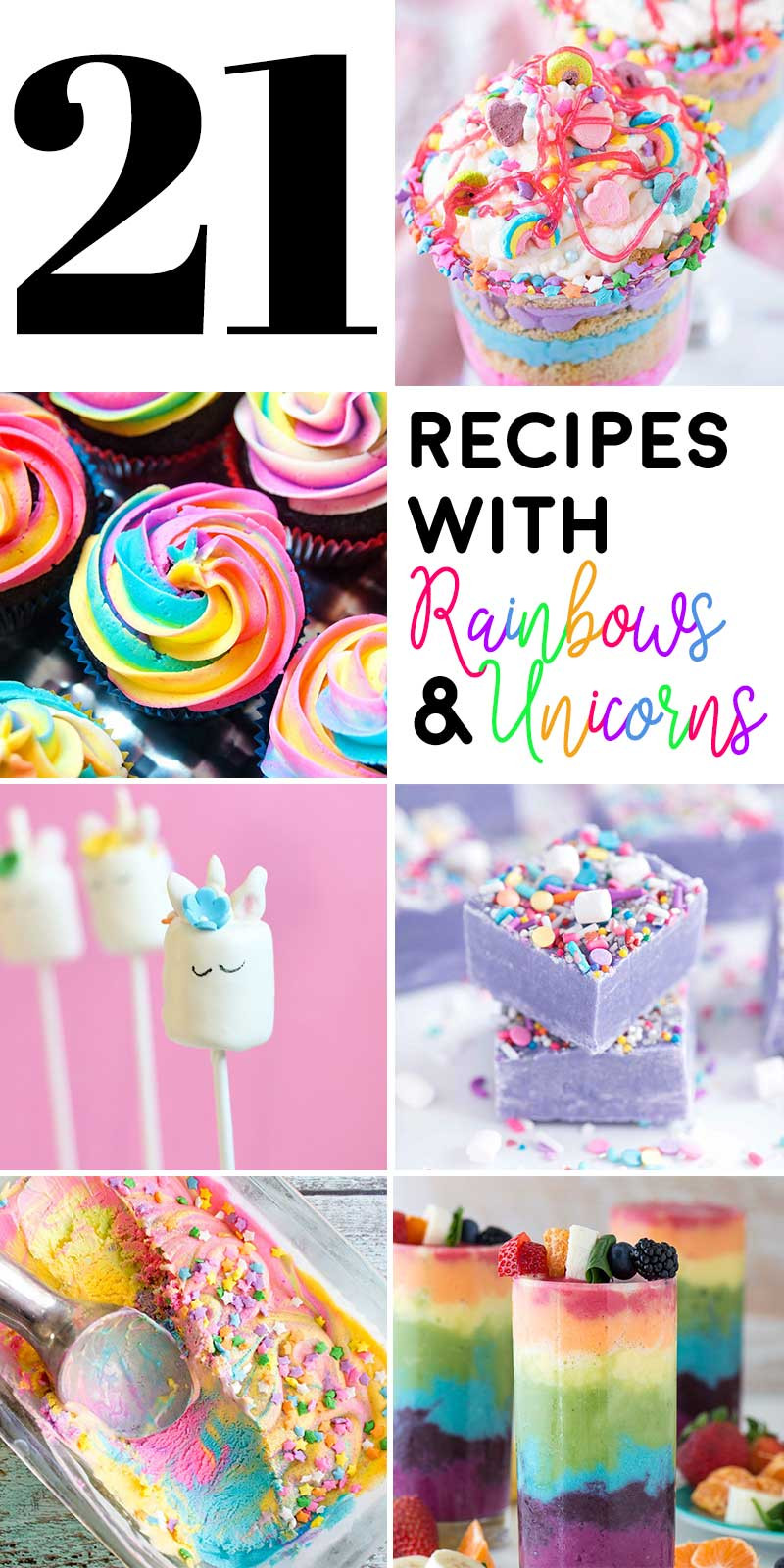 Unicorn Food Ideas For Party  21 Recipes with Rainbows and Unicorns Homemade Hooplah