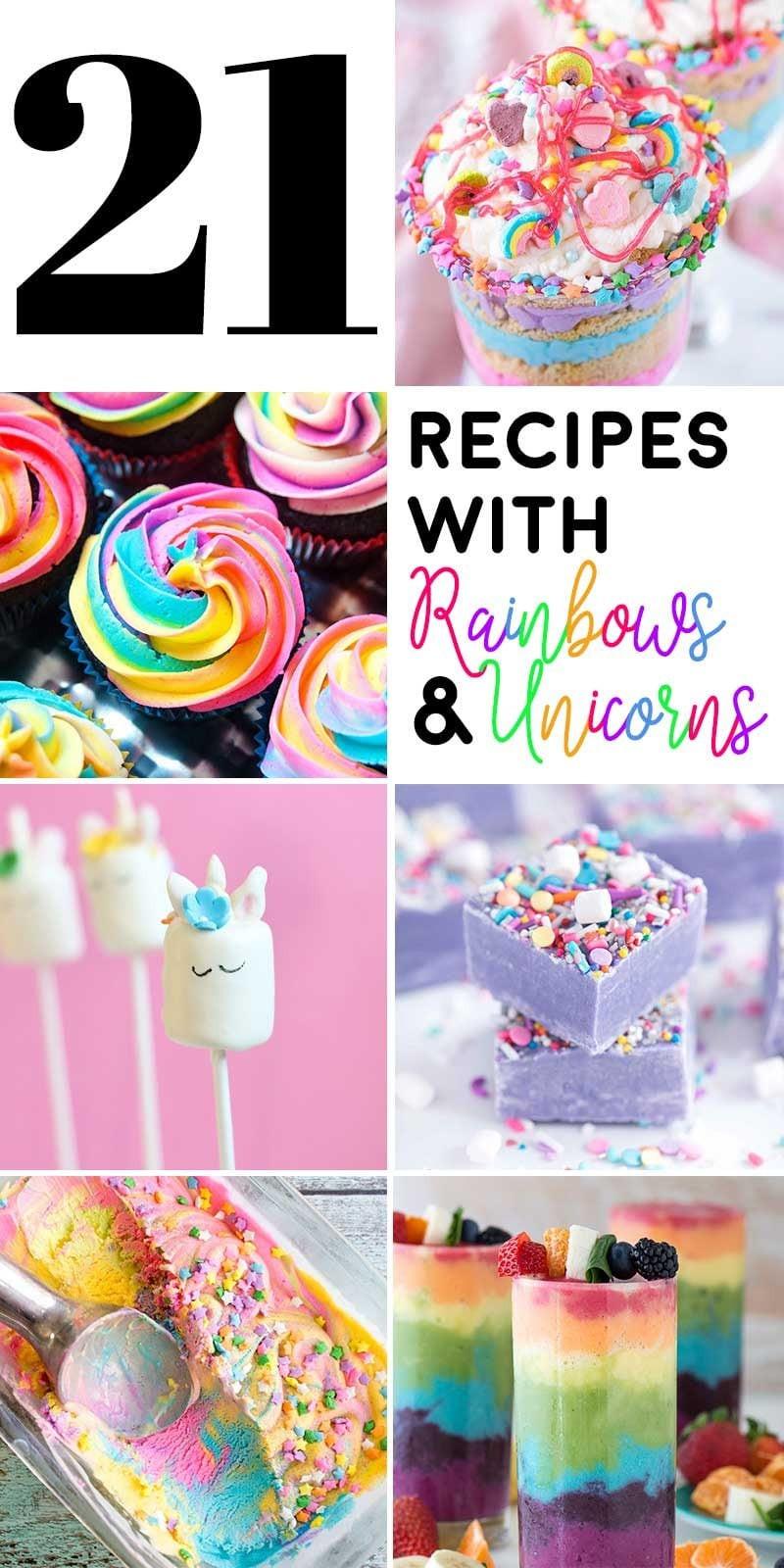 Unicorn Party Ideas Food  21 Recipes with Rainbows and Unicorns Homemade Hooplah