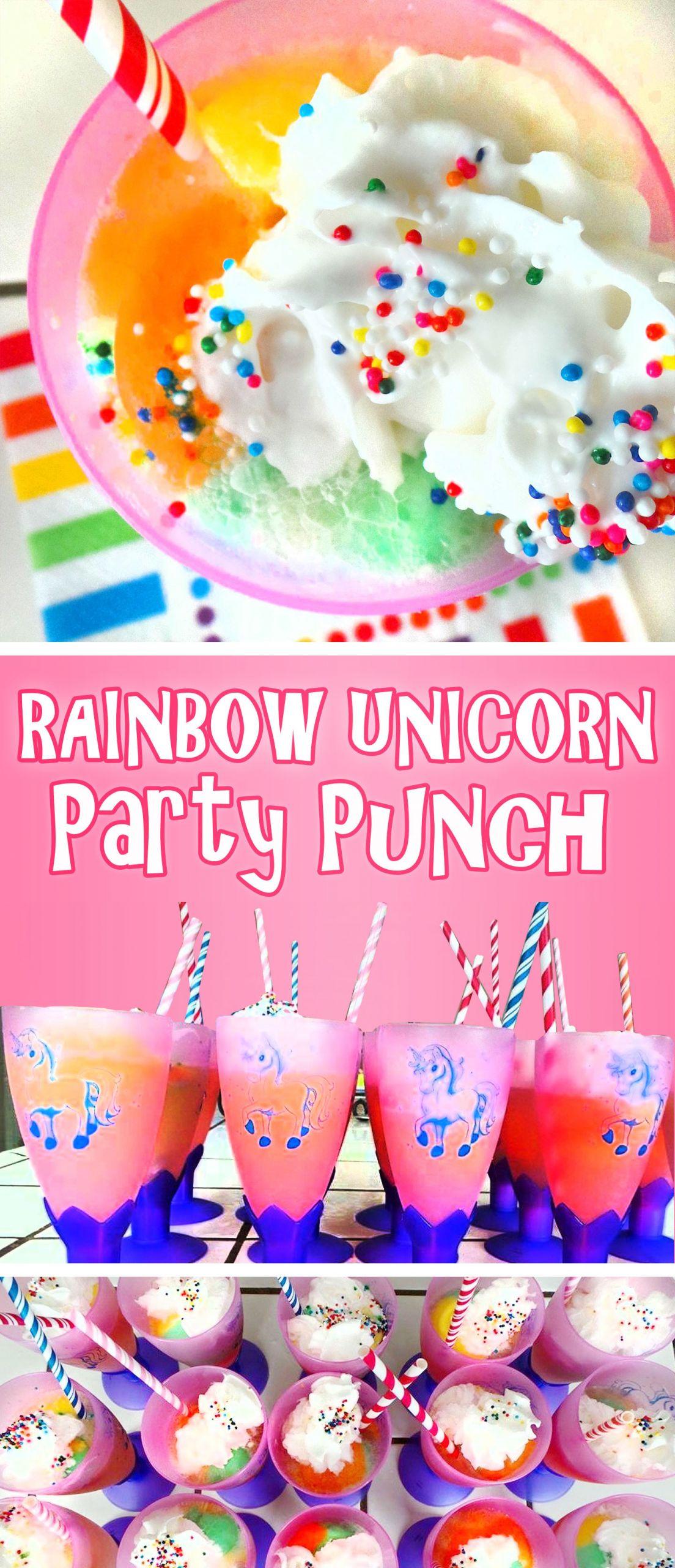 Unicorn Party Ideas Food  Rainbow Unicorn Party Punch