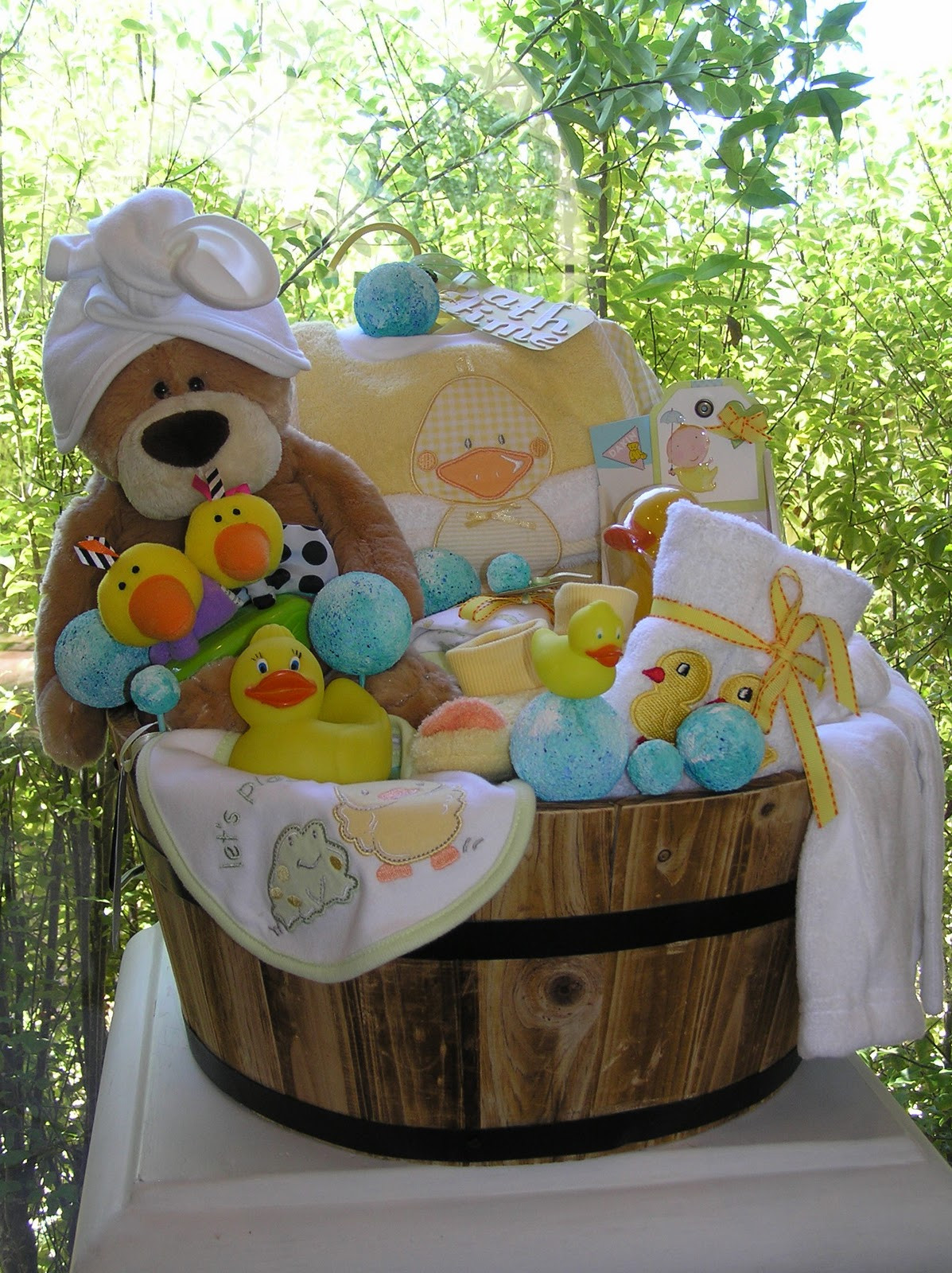 Unique Baby Shower Gift Ideas For Boys  White Horse Relics Unique Themed Baby Gift Baskets