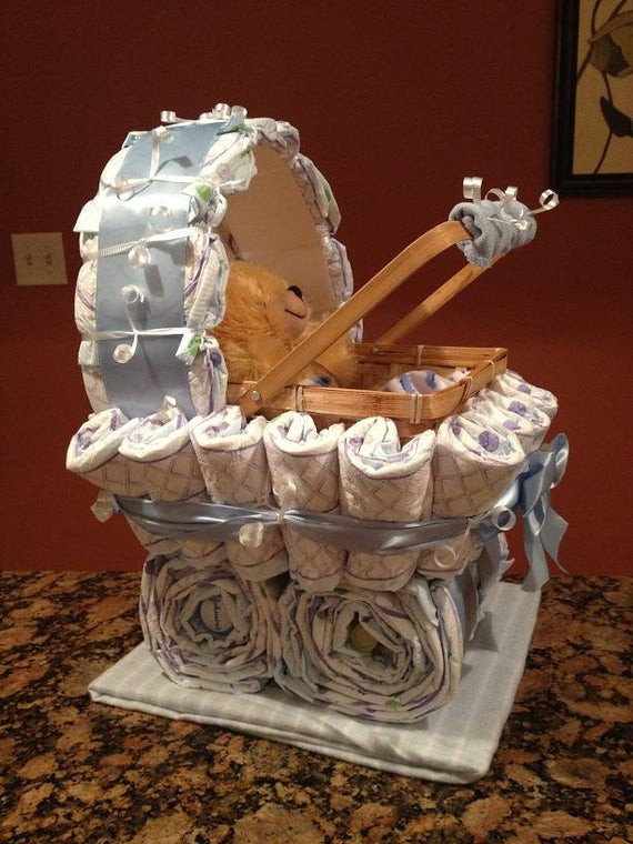 Unique Baby Shower Gift Ideas For Boys  Boy Diaper Carriage Unique Baby Shower Gift