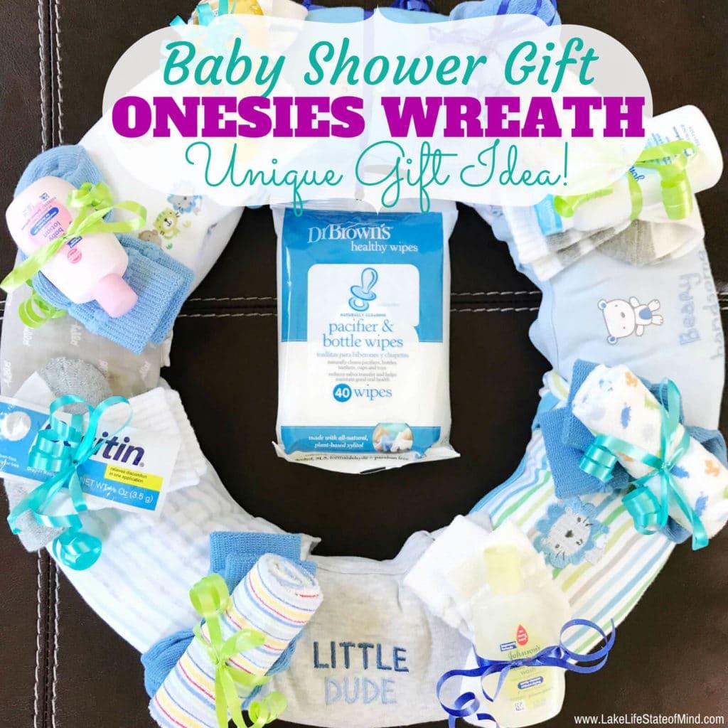 Unique Baby Shower Gift Ideas Pinterest  esies Wreath