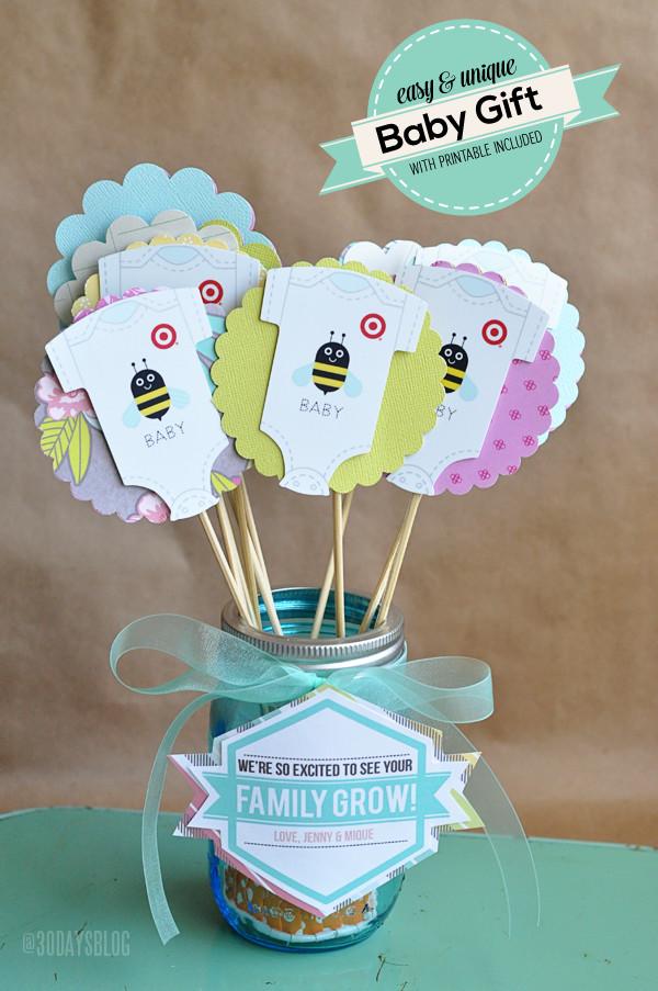 Unique Baby Shower Gift Ideas Pinterest  Unique Baby Shower Gift Idea w Printable
