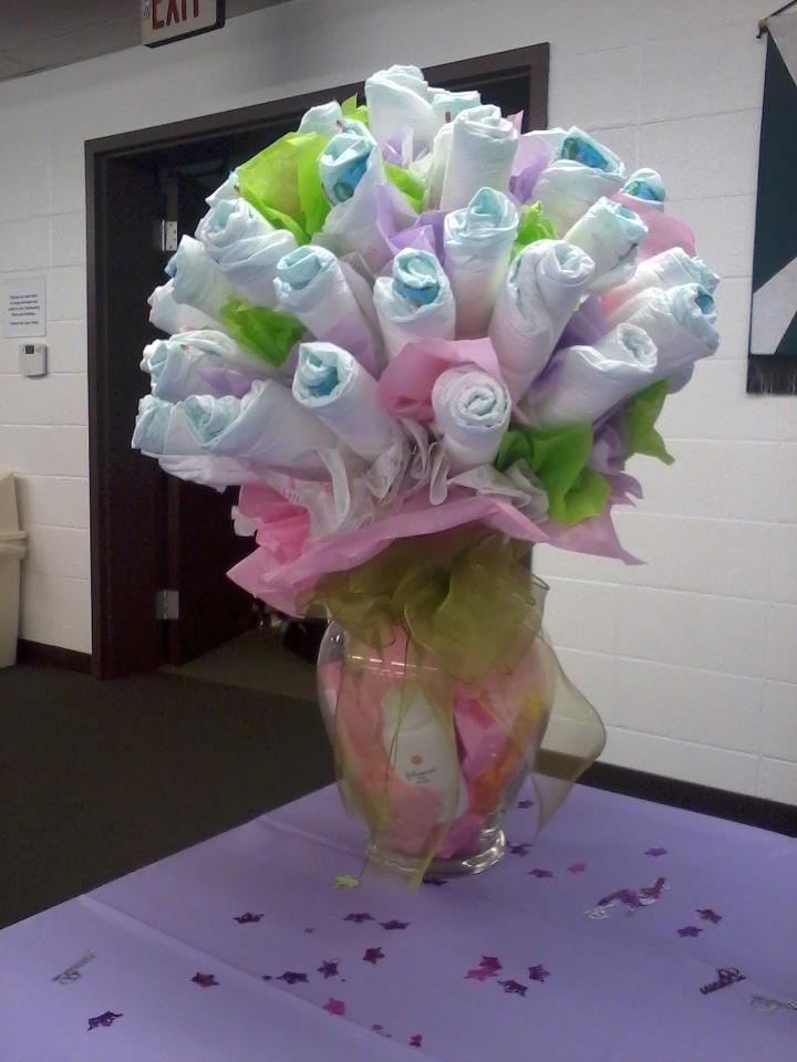 Unique Baby Shower Gift Ideas Pinterest  such a cool babyshower t idea diaper vase