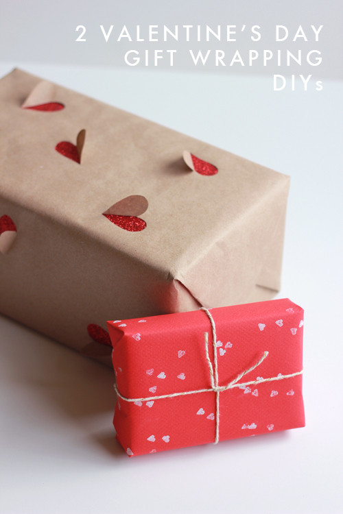 Valentine Day Gift Wrapping Ideas  2 simple Valentine s Day t wrapping ideas The House