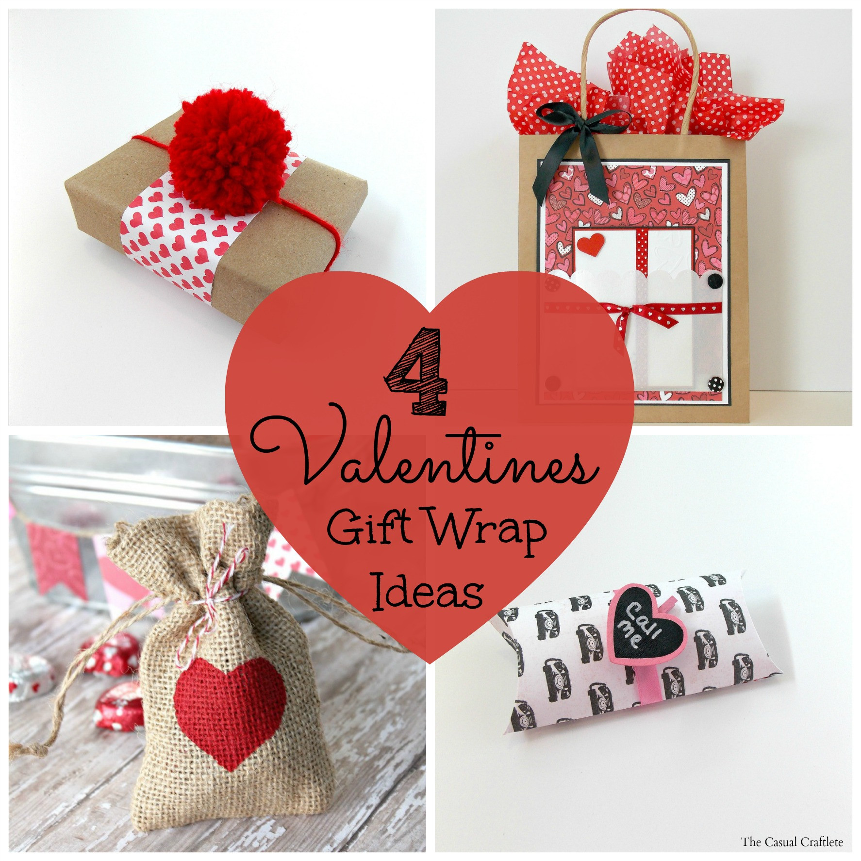 Valentine Day Gift Wrapping Ideas  4 Valentines Gift Wrap Ideas Purely Katie