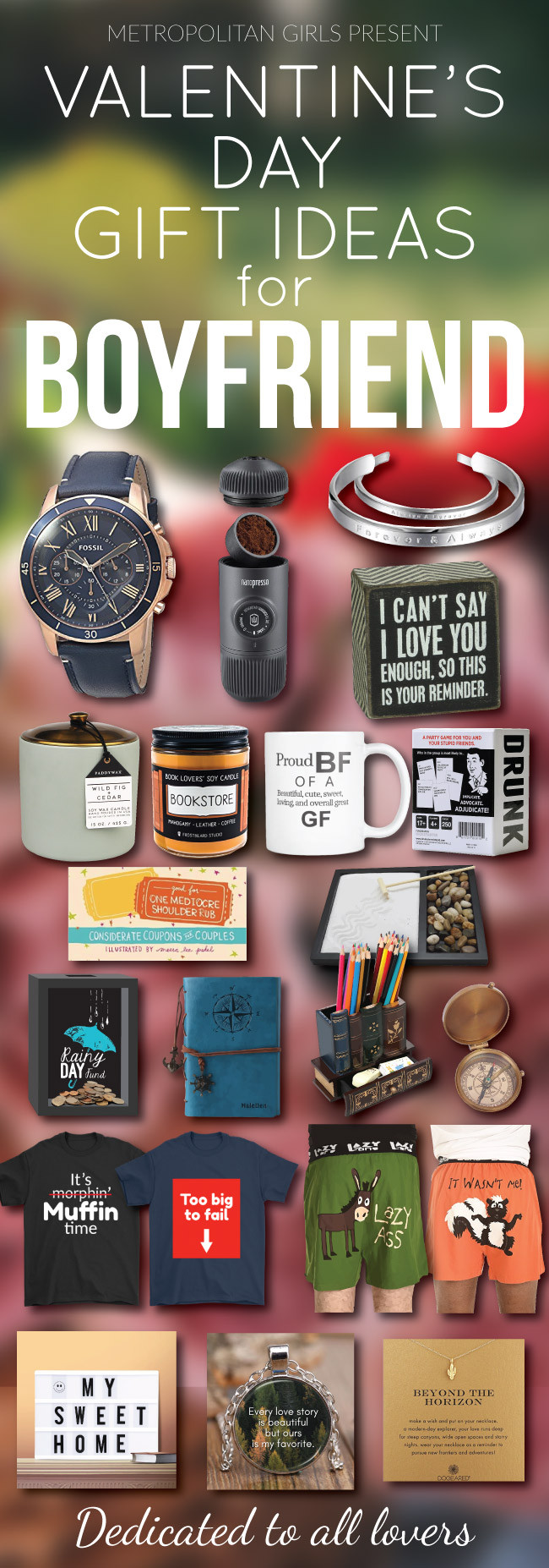 Valentine Gift Ideas For Boyfriends  2020 Valentine s Day Gift Guide Cute Gift Ideas for Your