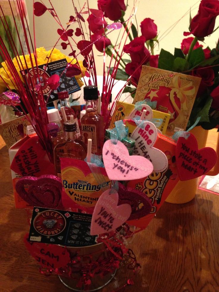 Valentine Gift Ideas For Boyfriends  Cute Valentines day t for boyfriend a man bouquet