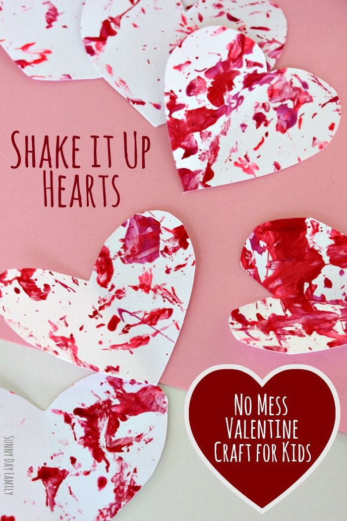 Valentine'S Day Craft Ideas For Preschoolers  Shake It Up Hearts No Mess Valentine Craft for Preschoolers