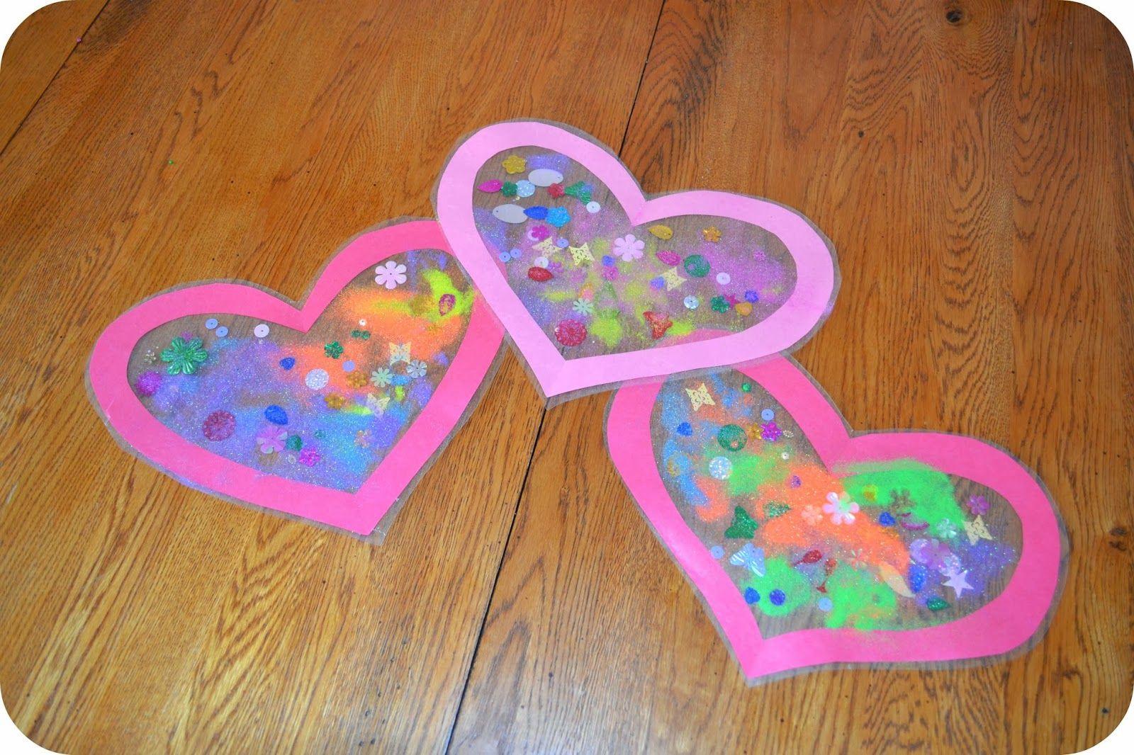 Valentine'S Day Craft Ideas For Preschoolers  Heart Sun Catcher Valentine s Day Craft