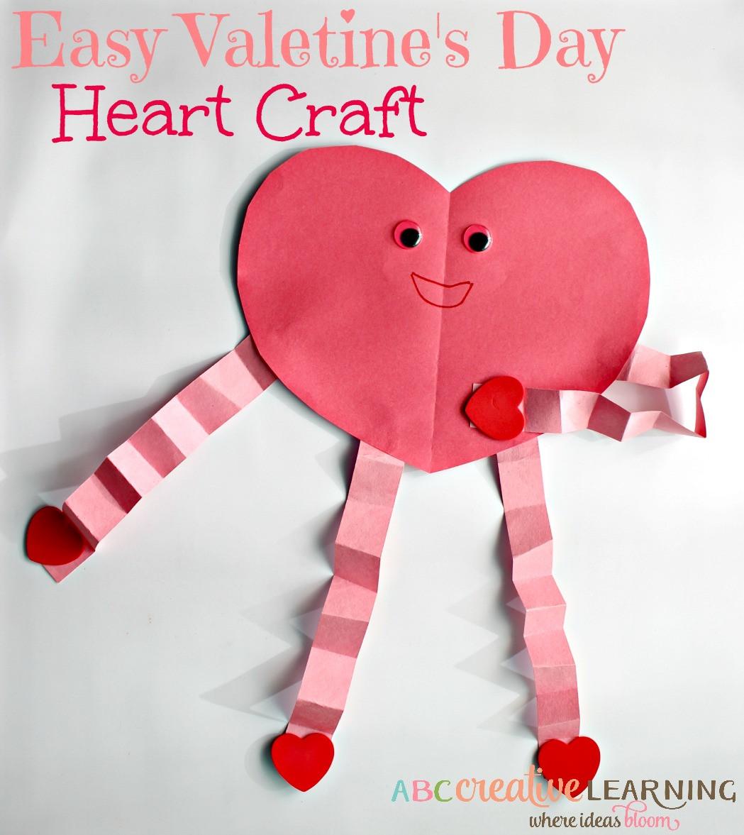 Valentine'S Day Craft Ideas For Preschoolers  Easy and Cute Valentine s Day Heart Craft For Kids