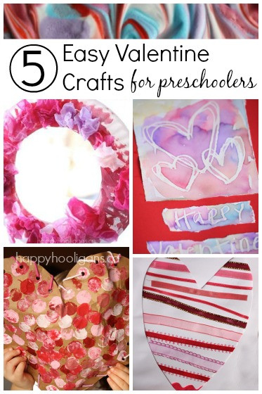 Valentine'S Day Craft Ideas For Preschoolers  5 More Easy Valentine Crafts for Toddlers Happy Hooligans