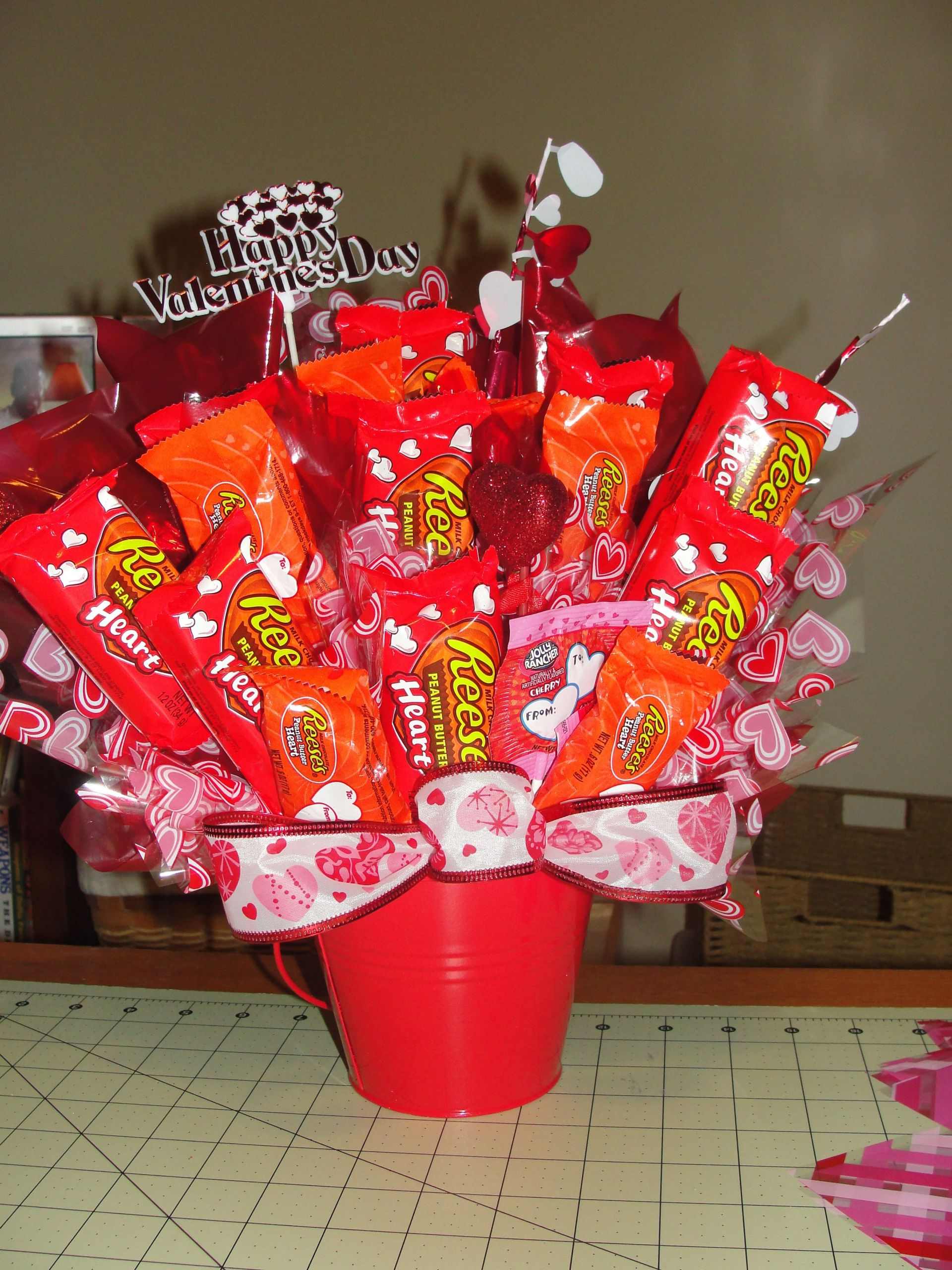 Valentines Candy Gift Ideas  Reece s Valentines Day Bouquet
