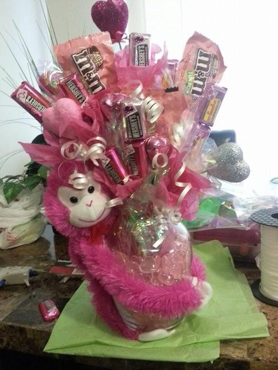 Valentines Candy Gift Ideas  Items similar to Valentines day candy bouquet on Etsy