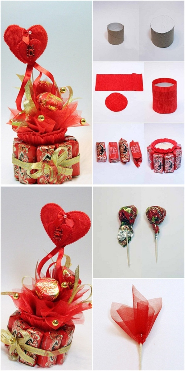 Valentines Candy Gift Ideas  DIY Valentine s Day t idea Make heart shaped