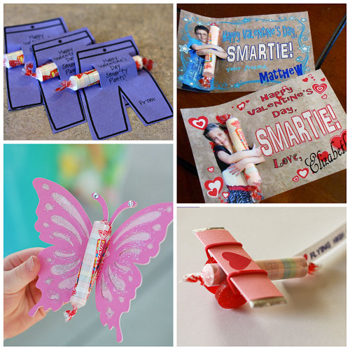 Valentines Candy Gift Ideas  Valentine Ideas for Kids Using Smarties Candy Crafty