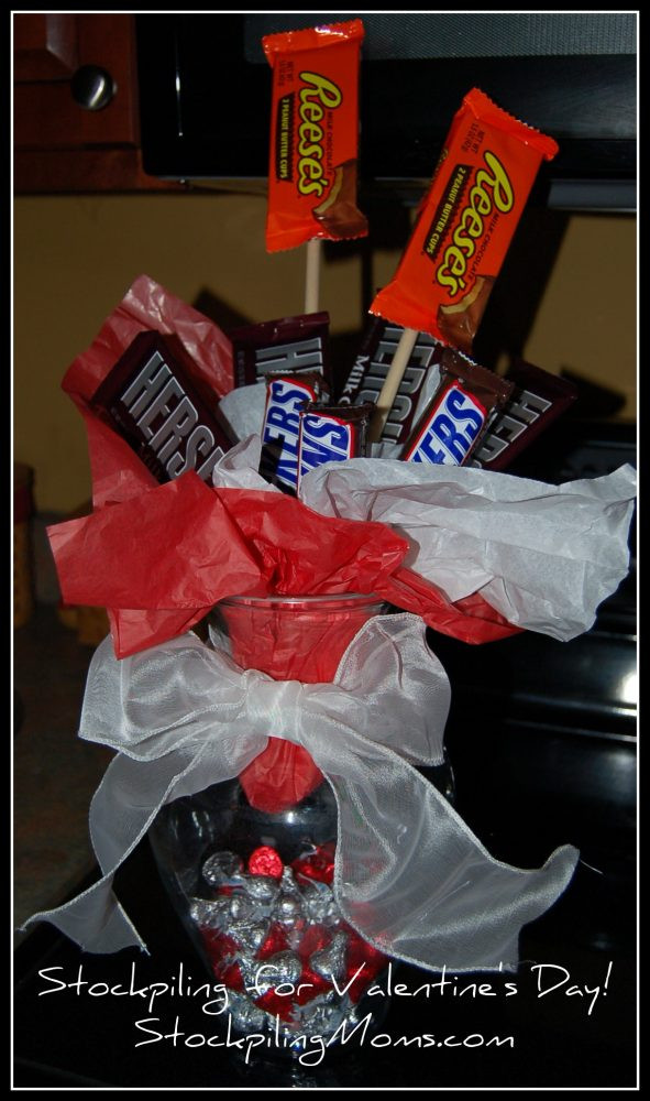 Valentines Candy Gift Ideas  How to Make a Candy Vase Valentine's Day Gift Idea