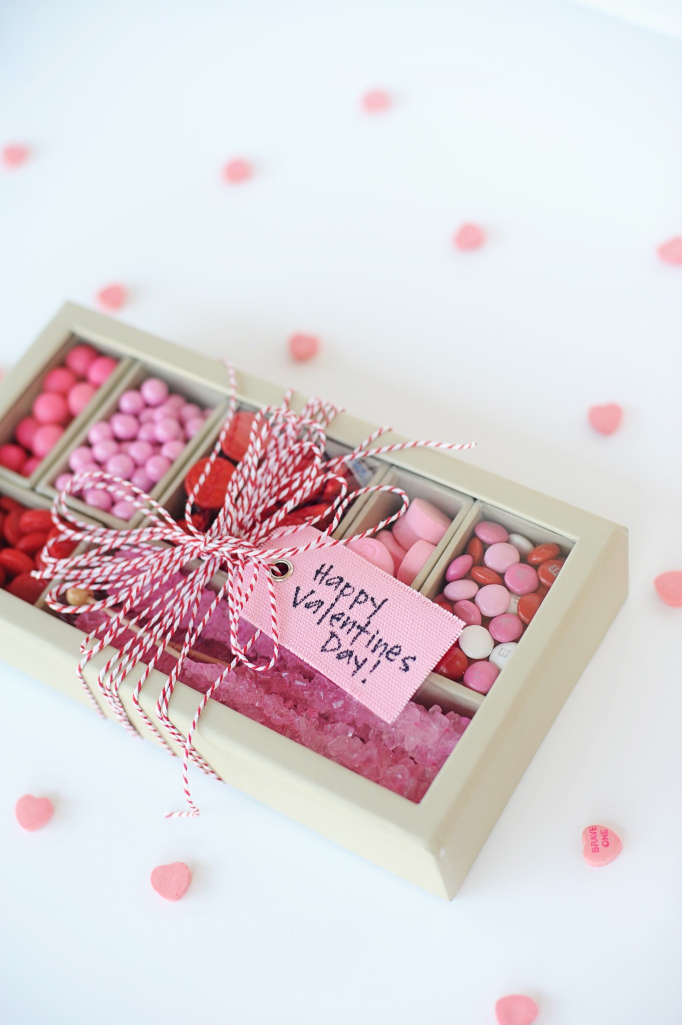 Valentines Candy Gift Ideas  Super Cute DIY Valentines Candy Gift Box Craft Red & Pink