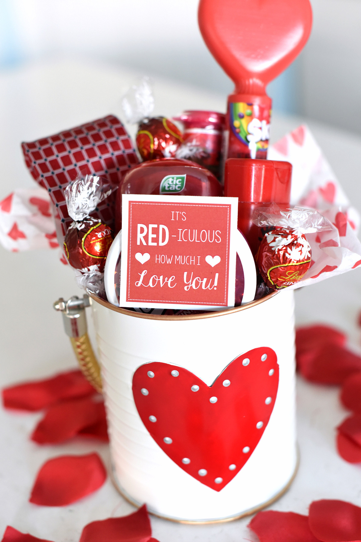 Valentines Day Gift Ideas For Husband  Cute Valentine s Day Gift Idea RED iculous Basket