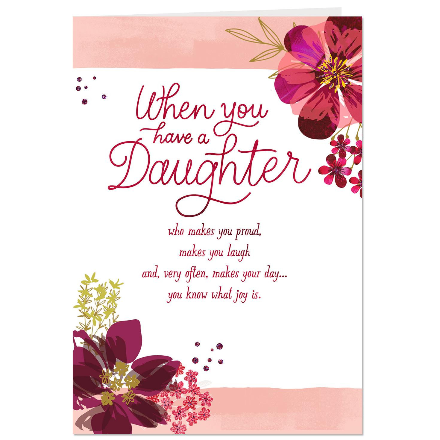 Valentines Day Quotes For Daughters  You Bring Me Joy Valentine s Day Card for Daughter