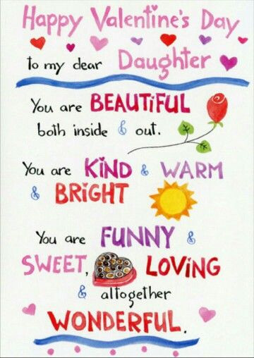 Valentines Day Quotes For Daughters  Happy Valentine s Day to my daughter