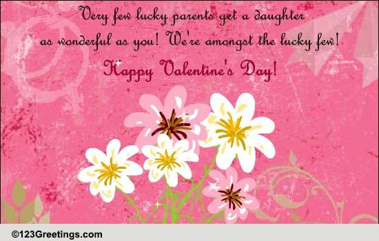Valentines Day Quotes For Daughters  Happy Valentine s Day Daughter Free Family eCards