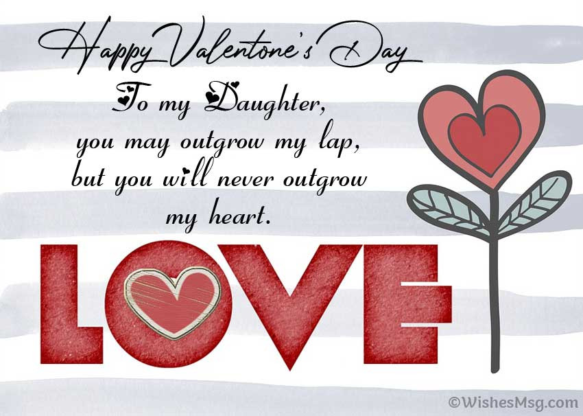 Valentines Day Quotes For Daughters  50 Valentine Day Wishes for Family 2020 WishesMsg