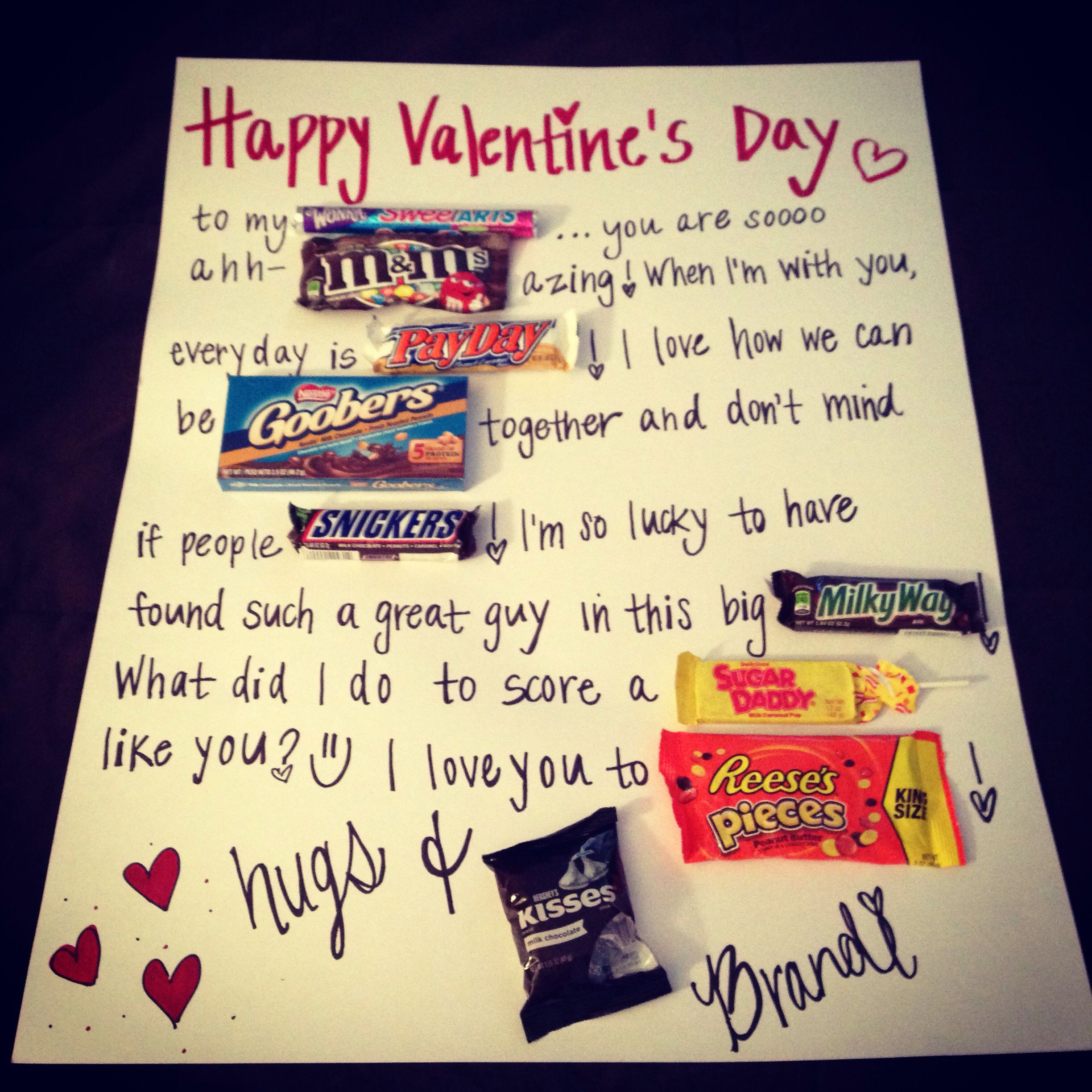 Valentines Gift For Him Ideas  Easy diy valentines t for him Gift Ideas