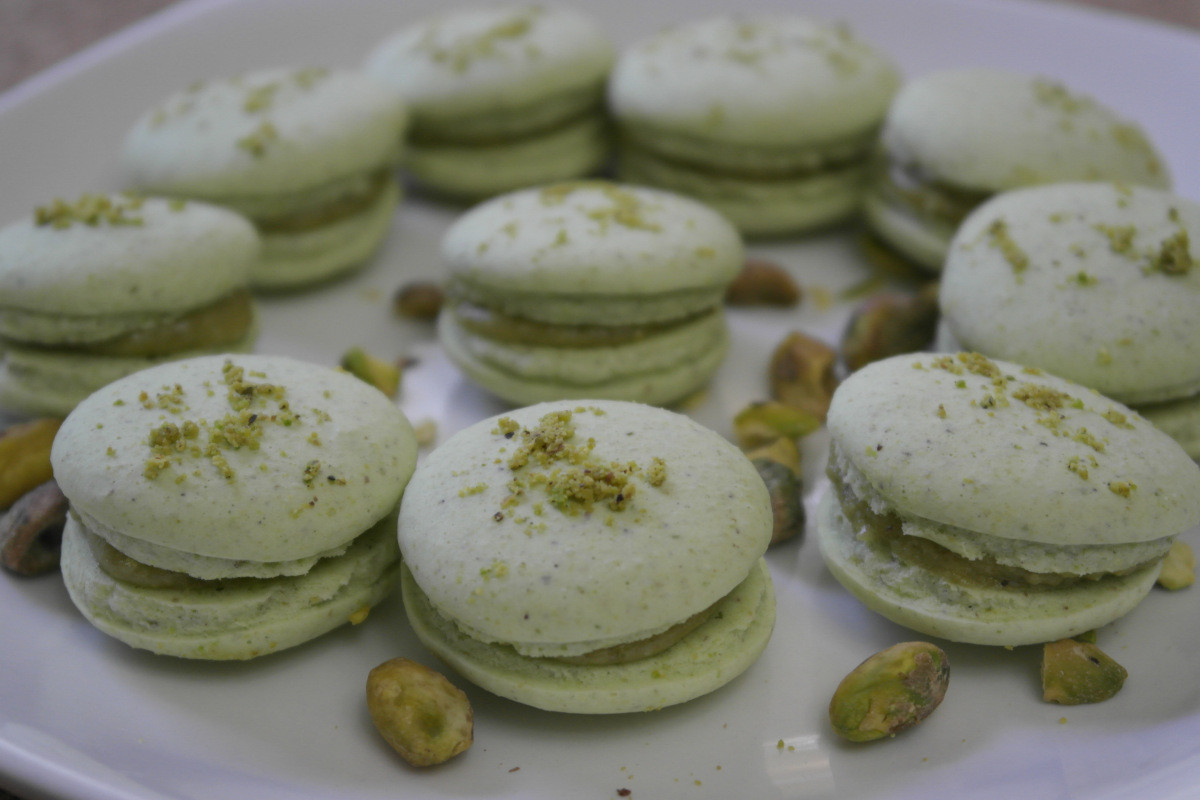 Vegan French Macaroons  Fave recipe Step by step vegan pistachio French macarons