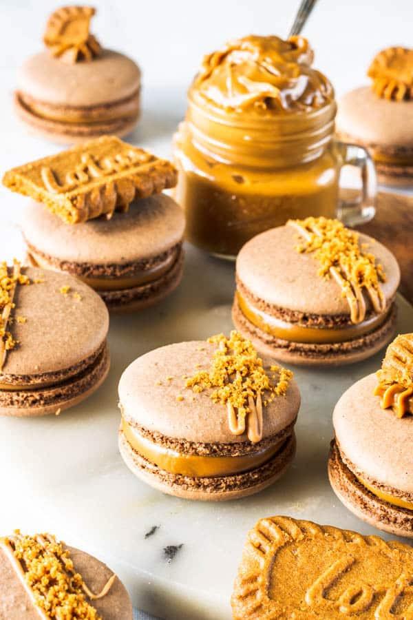Vegan French Macaroons  Vegan Biscoff Macarons Recipe With images