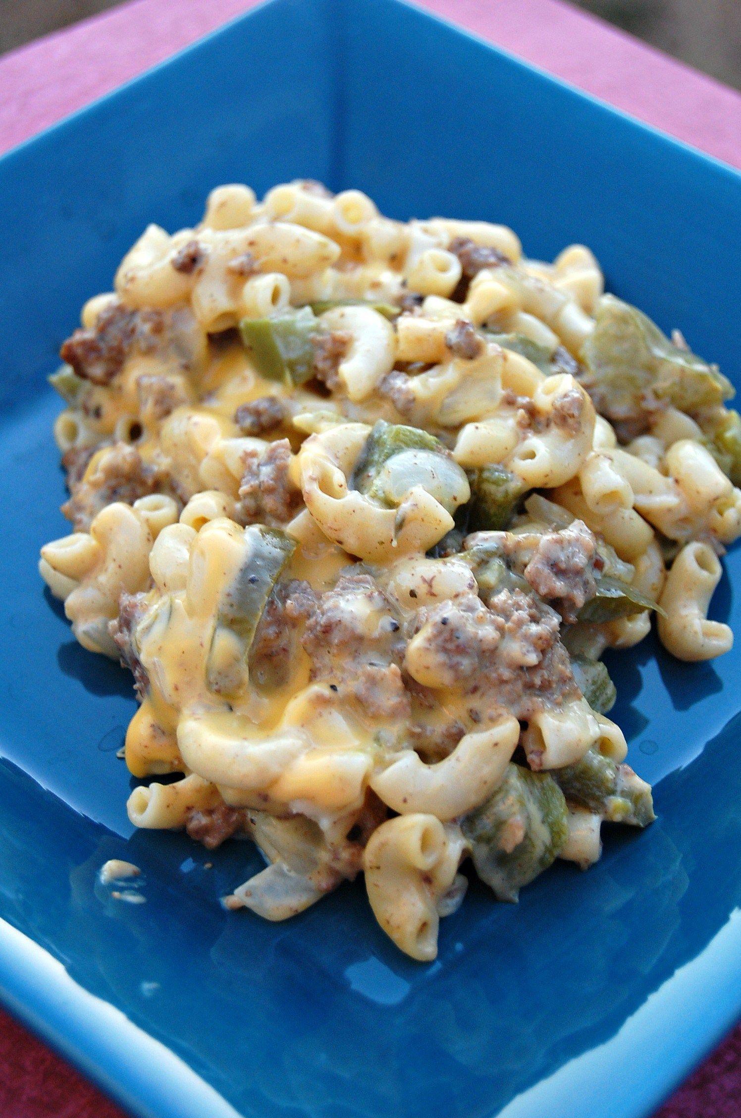 Velveeta Mac And Cheese Recipes With Ground Beef  Cheesesteak Casserole wonderful easy Velveeta