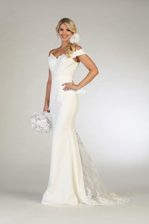 Vow Wedding Dress  Vow renewal dress Rq7659 – Simply Fab Dress