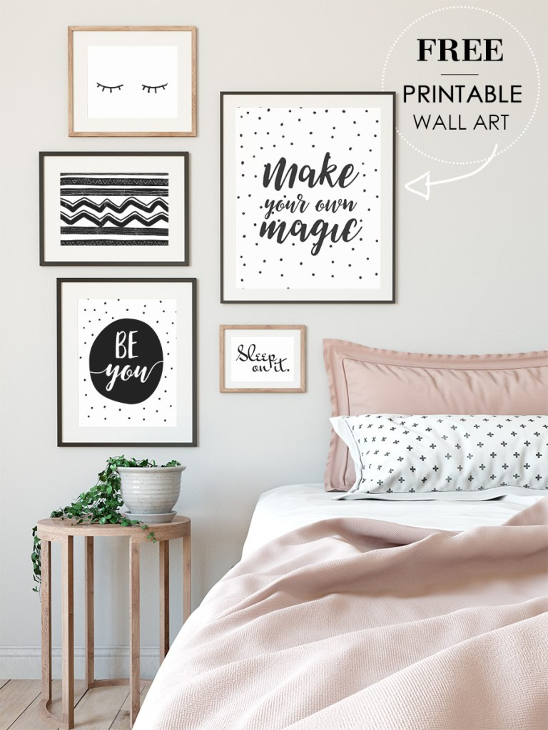 Wall Prints For Bedroom  Free wall art printables for your bedroom minimalist