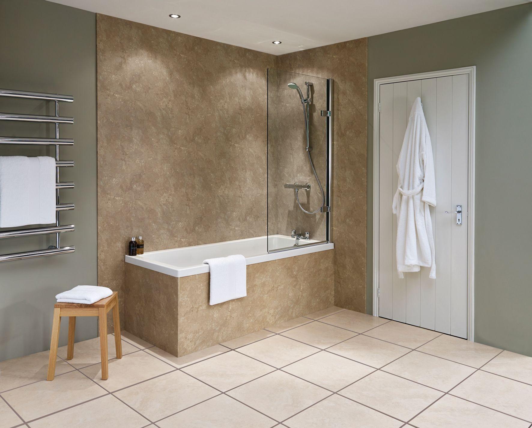Wallboard For Bathroom  Beautiful Waterproof Wall Panels for Bathrooms Decoration