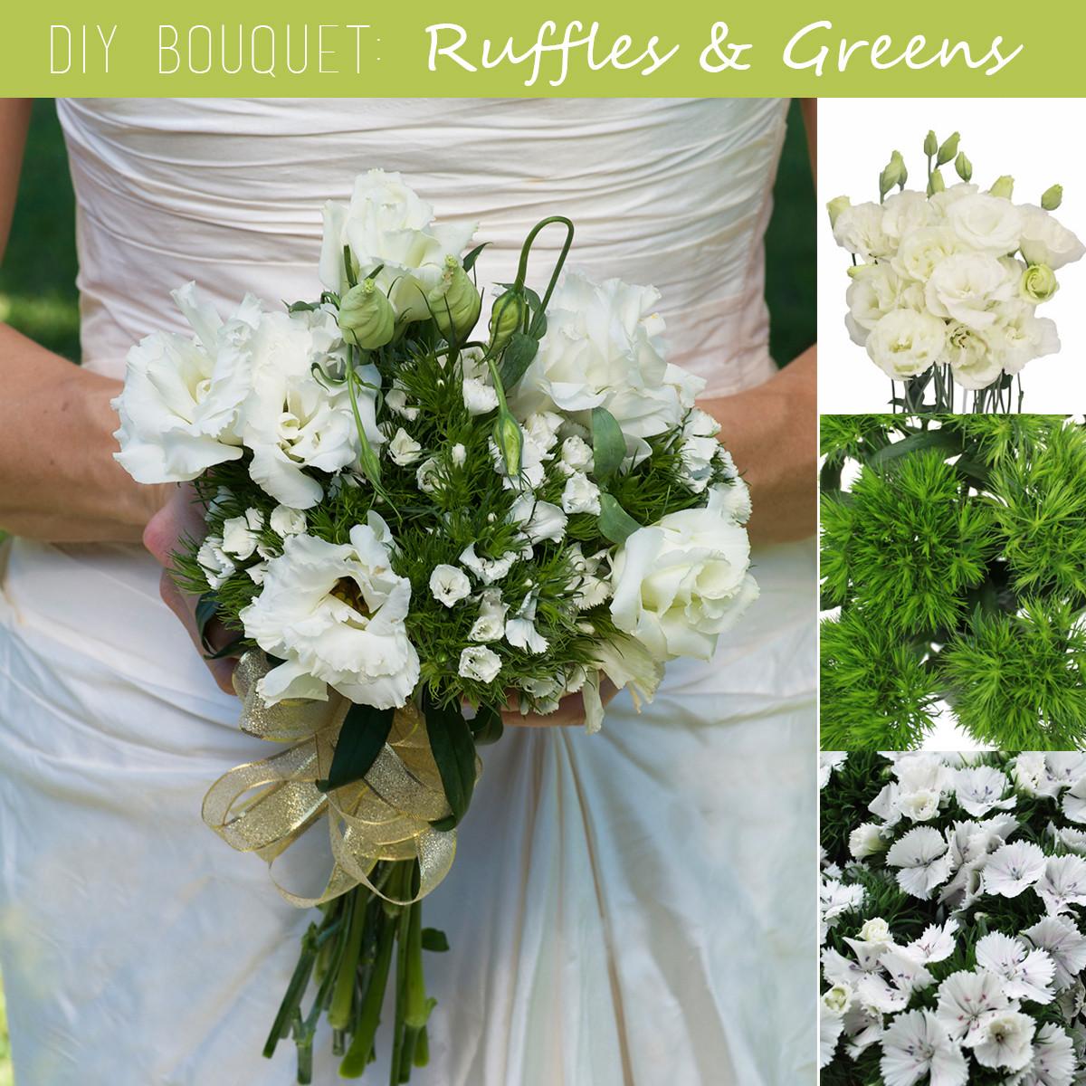 Wedding Bouquets DIY  DIY Wedding Bouquet Ruffles and Greens