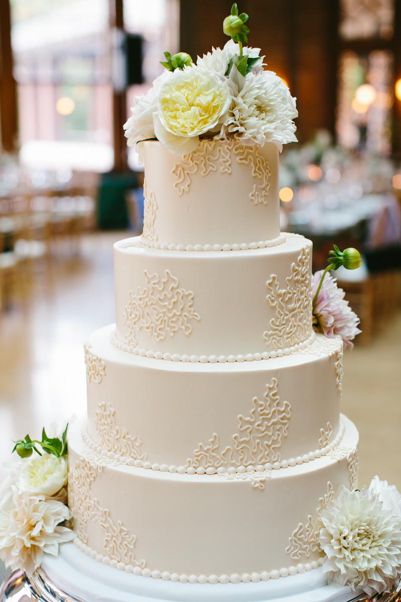 Wedding Cakes Simple  Simple Round Wedding Cake Elizabeth Anne Designs The