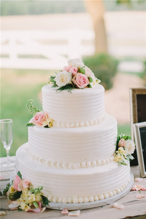 Wedding Cakes Simple  46 Simple Wedding Cake Ideas for Your Wedding – The Knot 2 Tie