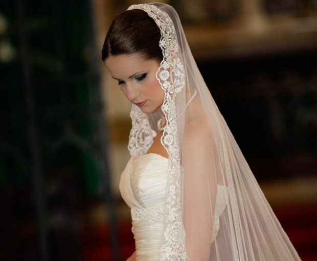 Wedding Veils With Long Hair  Bridal Hairstyles With Long Veils SHE SAID