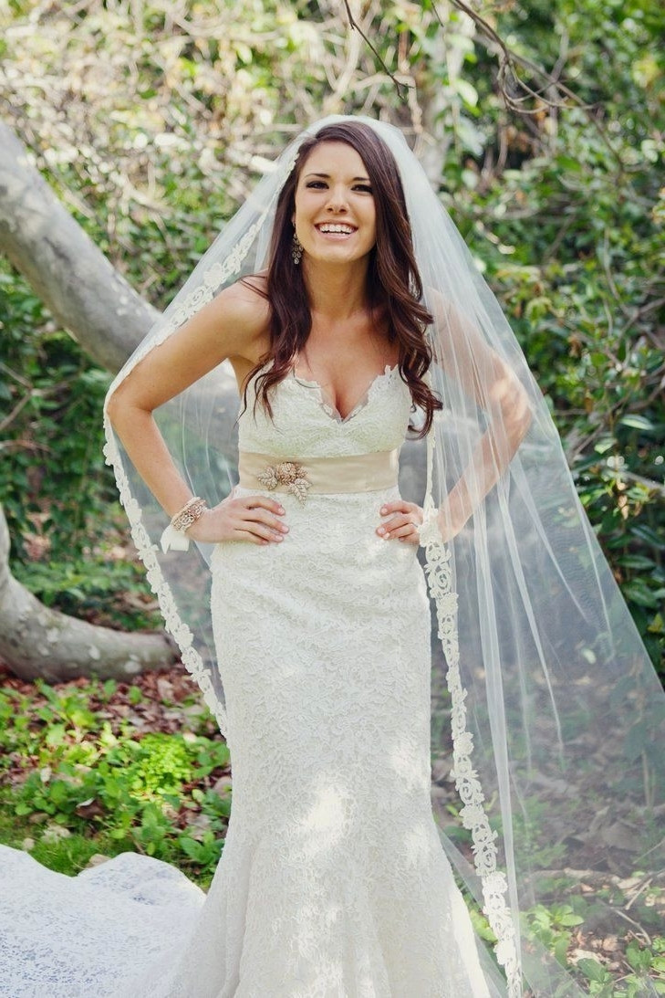 Wedding Veils With Long Hair  15 of Wedding Hairstyles For Long Hair Down With Veil