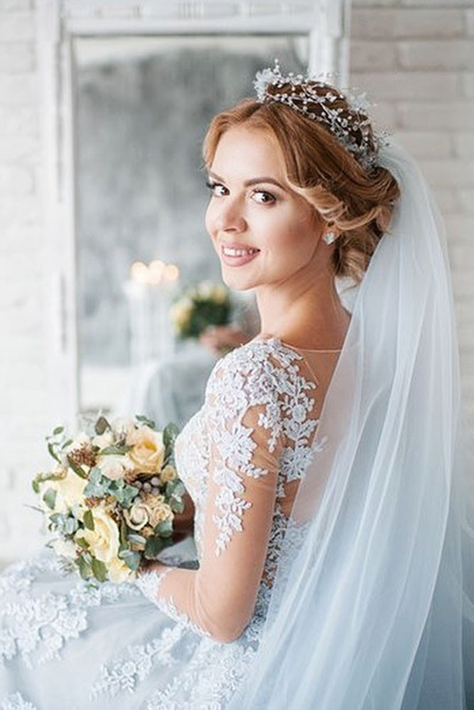 Wedding Veils With Long Hair  36 Wedding Hairstyles With Veil – My Stylish Zoo