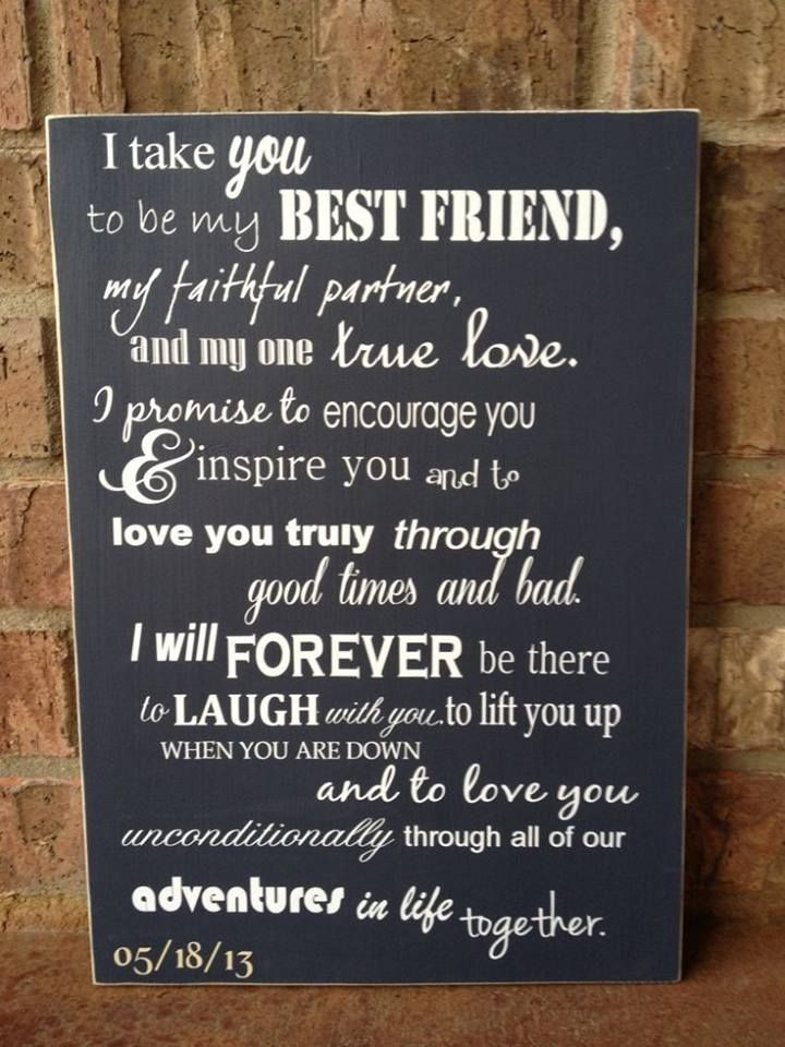 Wedding Vows For Him Funny  44 best images about Heartfelt Vows on Pinterest