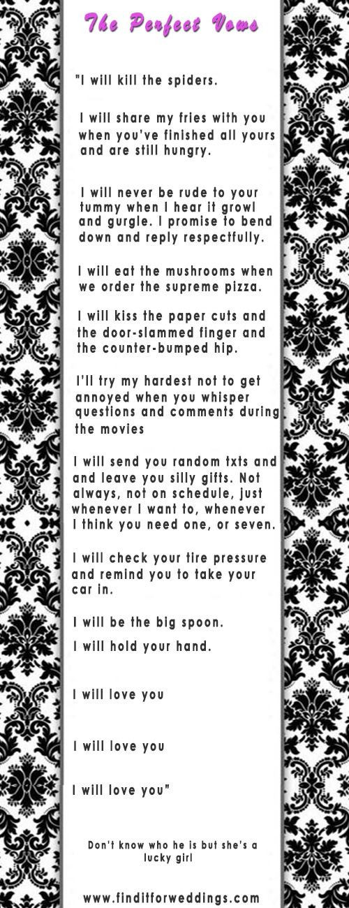 Wedding Vows For Him Funny  Romantic Wedding Vows Examples For Her and For Him