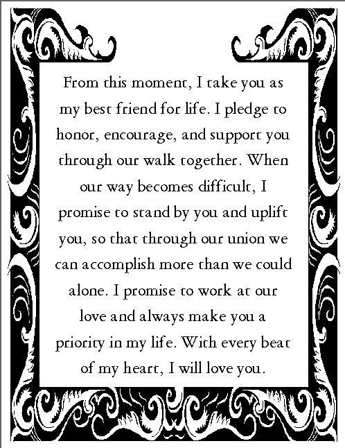 Wedding Vows With Children  Romantic Wedding Vows Examples For Her and For Him
