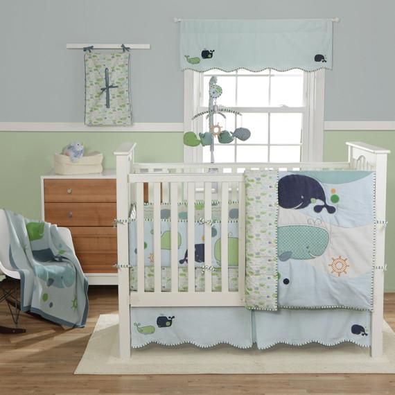 Whale Baby Decor  Bringing Up Boys Nursery Bedding