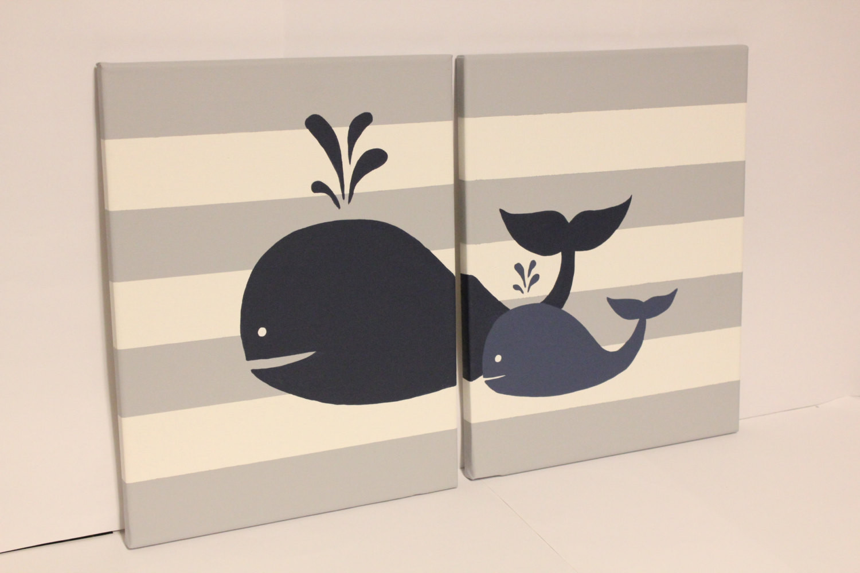 Whale Baby Decor  whale nursery wall art baby boy girl whale decor baby boy girl